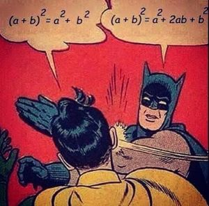 It's funny if you teach algebra. Or calculus. Or differential equations.